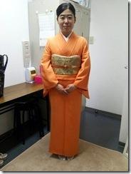 お母様の着物で入学式へ