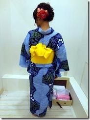 おばあさまの絞りの浴衣を着て (2)