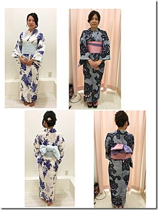 華やかな浴衣の出張着付 (3)