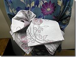 リカロヘアー美容室に浴衣の出張着付(^o^)♪