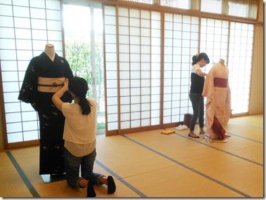 名古屋帯、二重太鼓、浴衣の他装着付練習(^O^)/♪