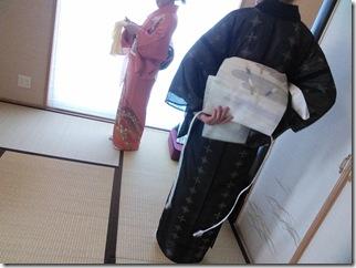 広島の美和きもの教室で着付練習 (2)