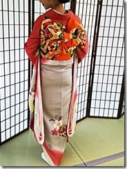 プレオープンのおりづるタワーに着物の出張着付 (3)