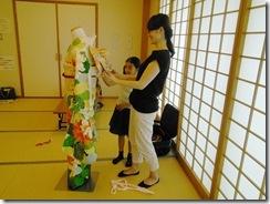 将来有望な着付師が練習会に (4)