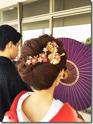 婚礼模擬挙式の着付に式場へ (10)