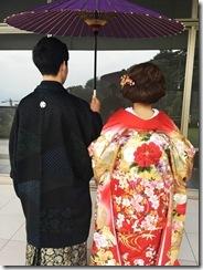 婚礼模擬挙式の着付に式場へ (11)