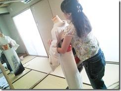 キリリッと袋帯の変わり結びを(^○^)♪