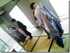 美容師さんの振袖きもの着付練習 (2)