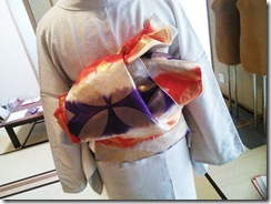 略礼装の他装着付を練習中 (2)