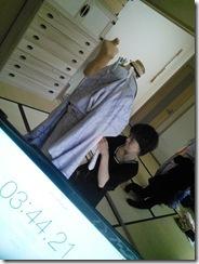 美容師さんの振袖きもの着付練習 (3)