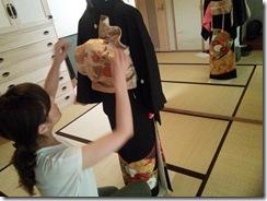 美容師さんの黒留袖の他装着付レッスン(^O^)/