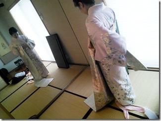 教室で着付を学んで結婚式へ(^o^)♪