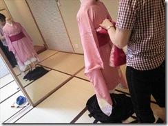 袴の他装着付練習でバッチリ (2)