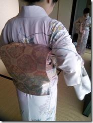 教室で着付を学んで結婚式へ (3)