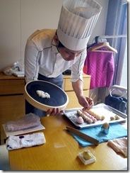 着物でグランプリ受賞の旬月へ和菓子体験 (3)