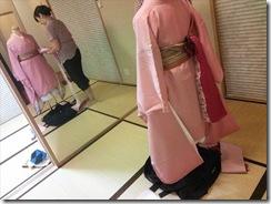 袴の他装着付練習でバッチリ