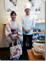 着物でグランプリ受賞の旬月へ和菓子体験