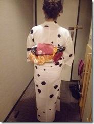 東京から来広のカープ女子に浴衣着付