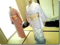 美和きもの教室で着物の他装着付練習 (6)