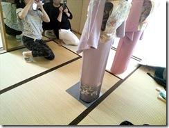 美和きもの教室で着物の他装着付練習