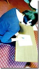 高須教室で礼装着の着付テスト (1)