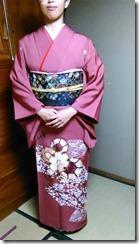 沖縄から帰広 訪問着で結婚式へ (2)