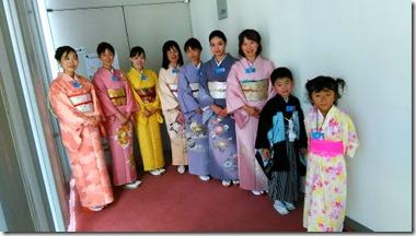 広島国際会議場開催のカザフスタン大統領歓迎行事に出張着付とヘアセット