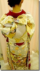 成人式ぶり振袖 出張着付で結婚式へ (1)