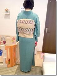 素敵なお着物でお寺の合同法要 (1)
