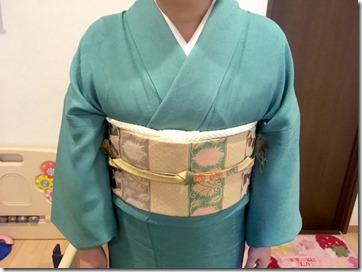 素敵なお着物でお寺の合同法要 (2)