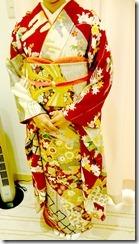 成人式ぶり振袖 出張着付で結婚式へ (2)