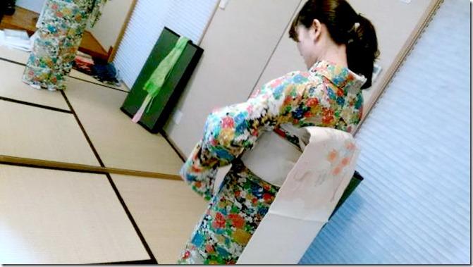 着物着付のテスト練習 (2)