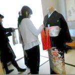 着付教室で留袖の他装着付練習(*^_^*)♪