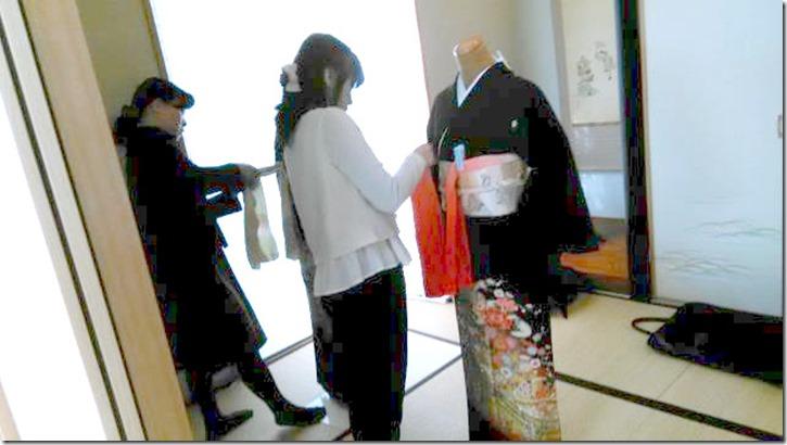 着付教室で留袖の他装着付練習 (2)