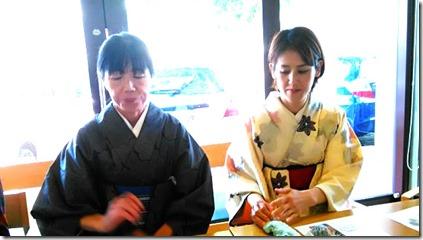 またまた着物でグランプリ受賞の旬月へ和菓子体験 (9)