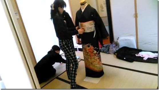 黒留袖の他装着付教室を(^o^)♪