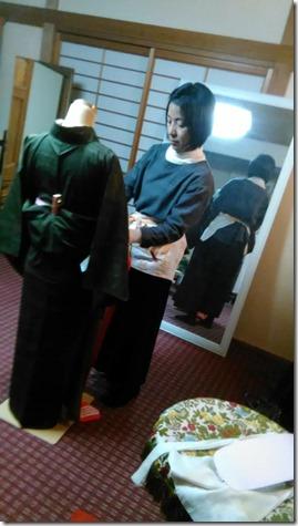 美和きもの で着物着付けのテストを (3)
