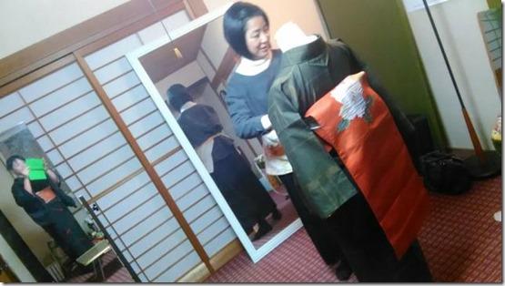美和きもの で着物着付けのテストを (1)