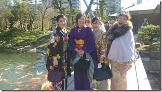 アンティーク着物で広島縮景園の梅鑑賞に (10)