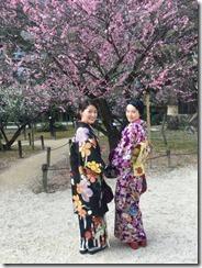 アンティーク着物で広島縮景園の梅鑑賞に (18)