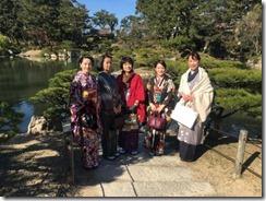 アンティーク着物で広島縮景園の梅鑑賞に (9)