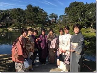 アンティーク着物で広島縮景園の梅鑑賞に (19)