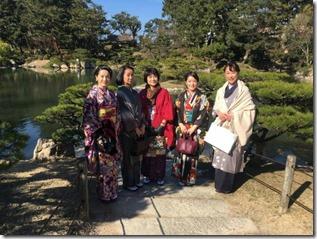 アンティーク着物で広島縮景園の梅鑑賞に (20)
