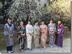 アンティーク着物で広島縮景園の梅鑑賞に (16)