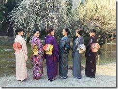 アンティーク着物で広島縮景園の梅鑑賞に (15)