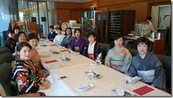アンティーク着物で広島縮景園の梅鑑賞に (14)