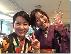 アンティーク着物で広島縮景園の梅鑑賞に (12)