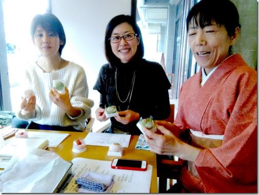 グランプリ受賞の島田先生から学ぶ和菓子作り (1)