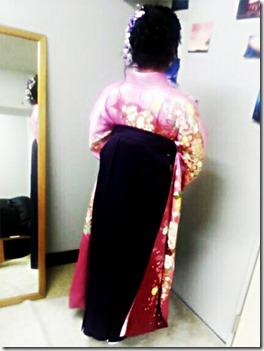広島の美容室へ袴の出張着付に (4)