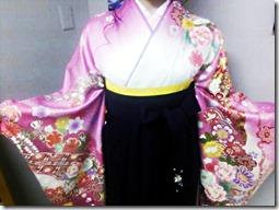広島の美容室へ袴の出張着付に (1)